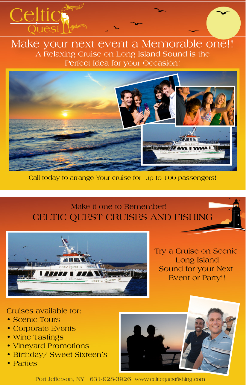 Ms creative designs llc for Celtic quest fishing port jefferson ny